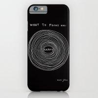 What to focus on - Happy (on black) iPhone 6 Slim Case
