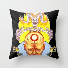 Dead Vision Serpent Throw Pillow