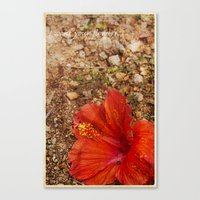 I Want Your Flowers Canvas Print