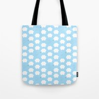 Cloud and Bee Pattern Tote Bag