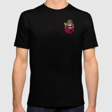 Pocket Dude (03) SMALL Mens Fitted Tee Black