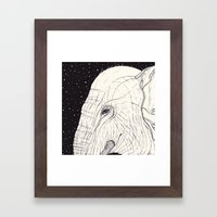animal moments: elephant Framed Art Print
