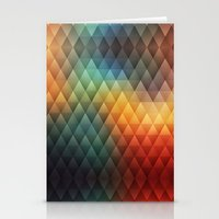 Triangle Rainbow Pattern Stationery Cards