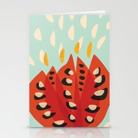 Red Abstract Tulip Stationery Cards