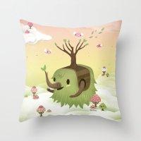 Mossiphants Throw Pillow