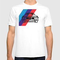 BMW E9 Mens Fitted Tee White SMALL