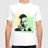 Nat King Cole Mens Fitted Tee White SMALL