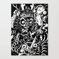 Swamp Samurai Canvas Print