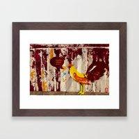 The Rooster Still Bites Framed Art Print
