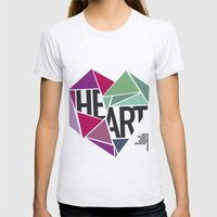 BROKEN HEART Womens Fitted Tee Ash Grey SMALL