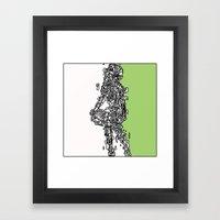 Lines 1  Framed Art Print