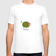 Olive Ewe. White Mens Fitted Tee SMALL