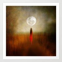 Woman In Red. By Vivian… Art Print