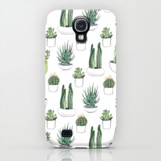 watercolour cacti and succulent Slim Case Galaxy S4