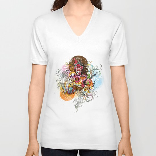 Peacock V-neck T-shirt