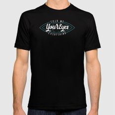 Behind Blue Eyes Mens Fitted Tee Black SMALL