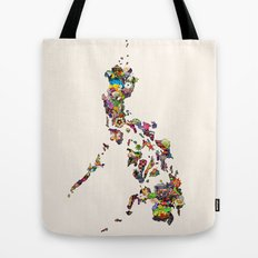 7,107 Islands | A Map of the Philippines Tote Bag