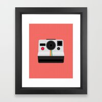 Polaroid One Step Land Camera Framed Art Print