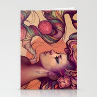 roses Stationery Cards featuring Leah by Megan Lara