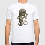 Demon Mens Fitted Tee Ash Grey SMALL