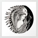 A dream of feathers Art Print