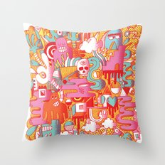 ABSTRACT 0017 Throw Pillow
