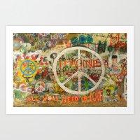 Peace Sign - Love - Graf… Art Print