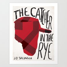 Catcher in The Rye by J.D Salinger Book Cover Re-Design Art Print