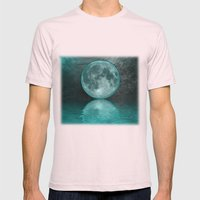 MOON FANTASY Mens Fitted Tee Light Pink SMALL