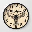 Oh, deer me! Wall Clock