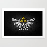 Zelda Hyrule Art Print