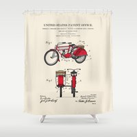 Motorcycle Sidecar Patent 1912 Shower Curtain