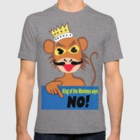 Monkey king says No! Mens Fitted Tee Tri-Grey SMALL