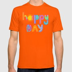 Happy Day Mens Fitted Tee Orange SMALL