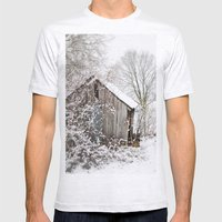 The Wooden Shed Mens Fitted Tee Ash Grey SMALL