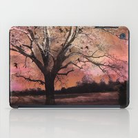 Surreal Trees Ravens Landscape  iPad Case