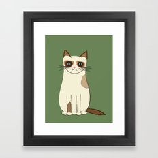 Grumpy Cat Framed Art Print