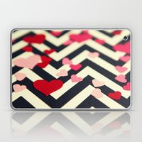 Chevron and Hearts Laptop & iPad Skin