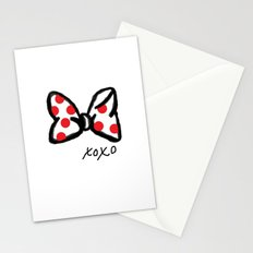 Minnie Red Polka Dot Bow Stationery Cards
