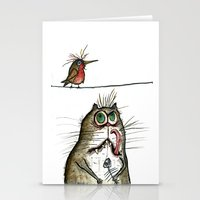 A Cat Ponders, Fish Or P… Stationery Cards