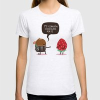 Mi Corazón Chocolate Po… Womens Fitted Tee Ash Grey SMALL