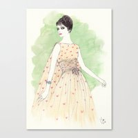 'Chloe' Watercolor Fashi… Canvas Print