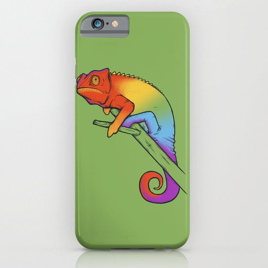 Confused chameleon iPhone & iPod Case