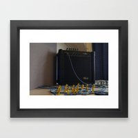 Assault On Music  Framed Art Print