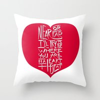 In A Heartbeat Throw Pillow