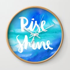 Rise & Shine [Collaboration with Jacqueline Maldonado] Wall Clock