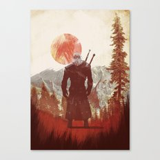 witcher geralt variation print Canvas Print