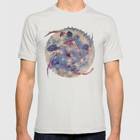 Spiral Stare Face Mens Fitted Tee Silver SMALL