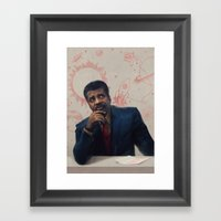 Neil Degrasse Tyson Portrait Framed Art Print