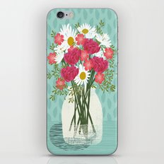 Vase of Daisies floral flowers spring summer mother's day illustration Andrea Lauren  iPhone & iPod Skin